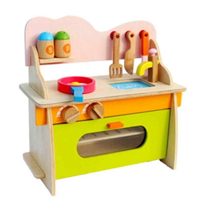 Wooden House Earnestly Children Cook Small Kids Kitchen Toy Set Toys Cosplay Simulation Suit Cooking