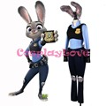Newest Hot Sale Stock American Rabbit Zootopia Officer Judy Hopps Personify Movie Cosplay Costume With Ear Tail And Shoes Cover