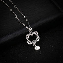 Women Fashion Heart Pendant Necklace S 925 Silver Crystal Wedding Jewelry Lady Girls Lovers Birthday Christmas Gifts