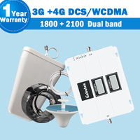 Lintratek Dual Band 1800 2100 3G 4G Repeater DCS/LTE 1800MHz B3 WCDMA/UMTS 2100MHz B1 3G Mobile Signal Antenna Set Booster S35