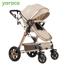 Baby Stroller Portable Folding Baby Carriages High Landscape Sit & Lie Prams For Newborns Infant Four Wheels Trolley