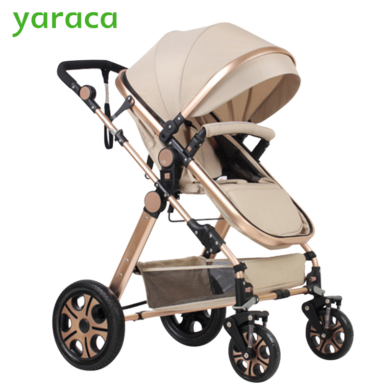 Baby Stroller Portable Folding Baby Carriages High Landscape Sit and Lie Prams For Newborns Infant Four Wheels Trolley folding baby stroller lightweight baby prams for newborns high landscape portable baby carriage sitting lying 2 in 1