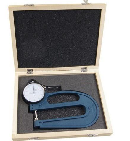 Thickness Gauge Deep Throat Measuring Caliper 0-10 120MM Depth hole measuring 10 54mm x 50mm pin gage gauge w plastic cylindrical box
