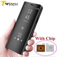 Twitch Smart Flip Case With Chip Phone Shockproof Case For Samsung S8 S7 S6 Edge Smart