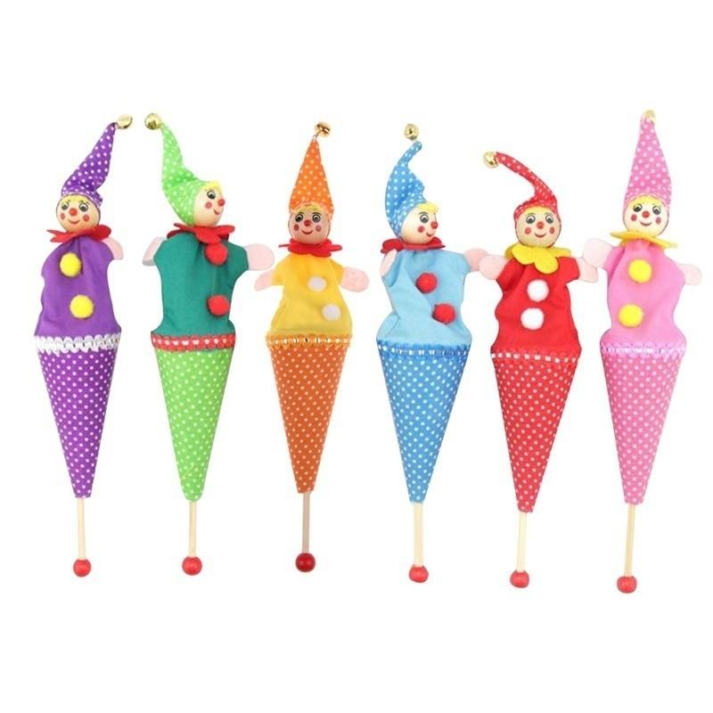 1Pcs Random Style Bell Hide Seek Pop Up Telescopic Baby Kids Educational Toys Hand Puppet telescopic stick doll New Brand