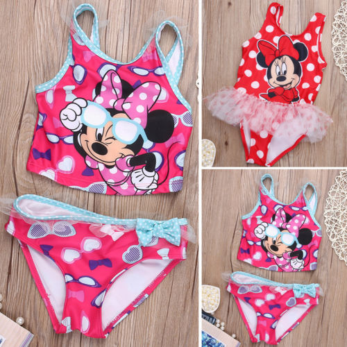2017 Baby Kids Toddler Swimming Swimwear Birl Bikinis Set  One or Two-piece suit Bathing Swimsuit costumi moda 2019