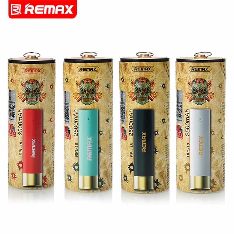Remax Mini Bullet Design Power Bank Backup Extra Power Bank 2400mAh Universal External Battery Pack Emergency Backup Power