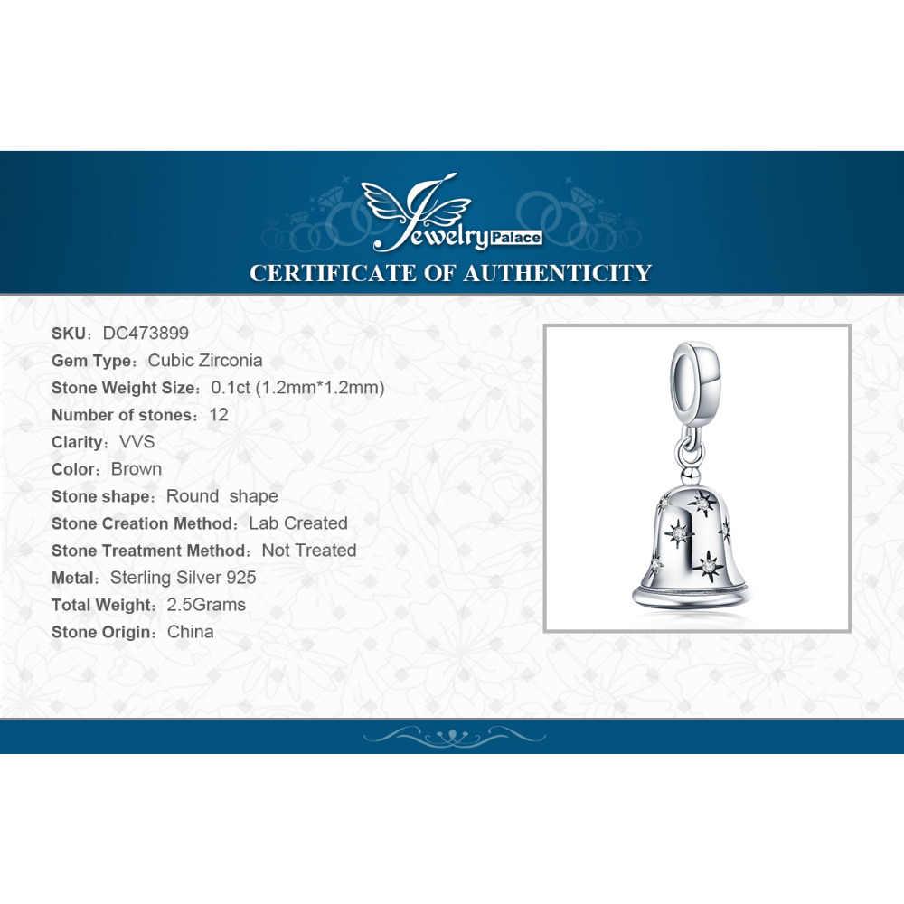 JewelryPalace Jingle Bell 925 ayar gümüş boncuk Charms gümüş 925 orijinal için bilezik gümüş 925 orijinal takı yapımı
