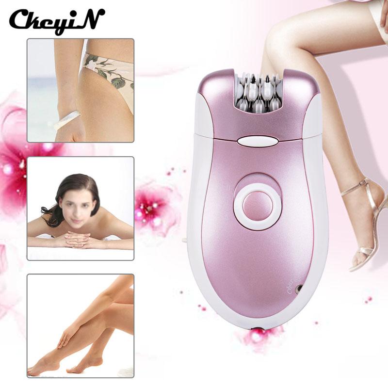 CkeyiN 2 In1 Depilatory Electric Female Epilator Razor Lady Shaver Women Girl Hair Removal For Facial Body Armpit Underarm Leg 11