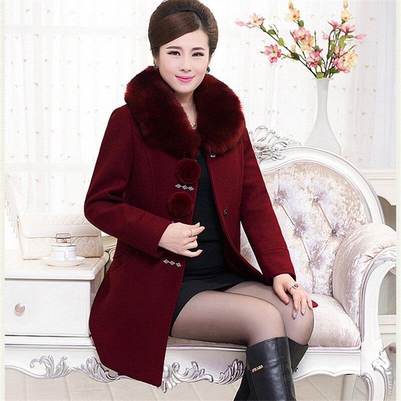 Vêtements Qualité Col Laine De Élégant Hiver 2018 Fourrure Femmes Dames Plus Taille La Manteau Haute tvg7EwOEqx