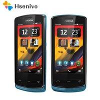 700 Original Desbloqueado Nokia 700 telefone 3.2 '5.0MP 512RAM + 1 GB ROM Mobile Phone Bluetooth WIFI GPS Remodelado frete Grátis