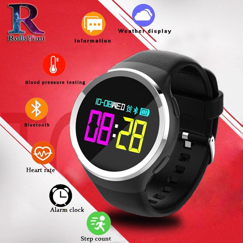 RollsTimi N69 montre intelligente sport OLED 0.95 pouces fréquence cardiaque sang oxygène podomètre appelant ou Message montrer Smart femmes hommes montres
