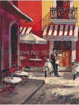 The Good Life oil painting of Brent Heighton High quality canvas Reproduction Hand painted Romantic Art Paris Landscape