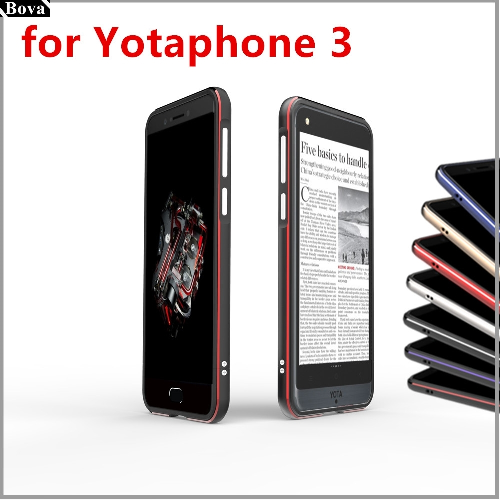 For Yota Phone 3 case Luxury Deluxe Ultra Thin Protective aluminum Bumper Phone Cases For Yotaphone 3
