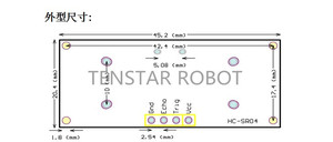 Image 5 - Free shipping 100pcs Ultrasonic Module HC SR04 Distance Measuring Transducer Sensor