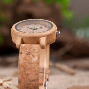Image 4 - ボボ鳥愛好家竹クォーツカップルの腕時計2020トップブランドファッションコルクストラップ腕時計時計レロジオfemininoドロップシップ