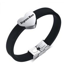 Personalized Engraved Heart Shape Bracelet