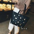 2017 Hot New Fashion Women Korean Printing Zipper Middle Hobos Handbags Female Casual Soft Shoulder Bags Messenger Bag