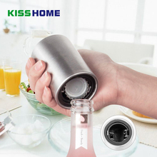 Portable Magnetic Automatic Bottle Opener Stainless Steel Push Down High Quality Wine Beer Openers Practical Kitchen Accessories