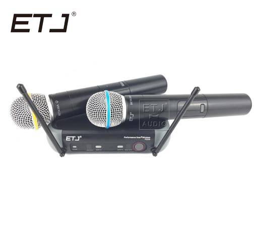 ETJ Brand Free Shipping by DHL PGX242 Professional Wireless Microphone 2 Transmitter Handheld Stage Performance