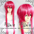 [xiaomo]Magi Ren Kouha 89cm Red High Temperature Wire Cosplay Wig Free Shipping +cap +cap