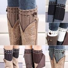 Bluelans Soft Fashion Women's Warm Crochet Knitted Button Boot Socks Leg Warmers Leggings