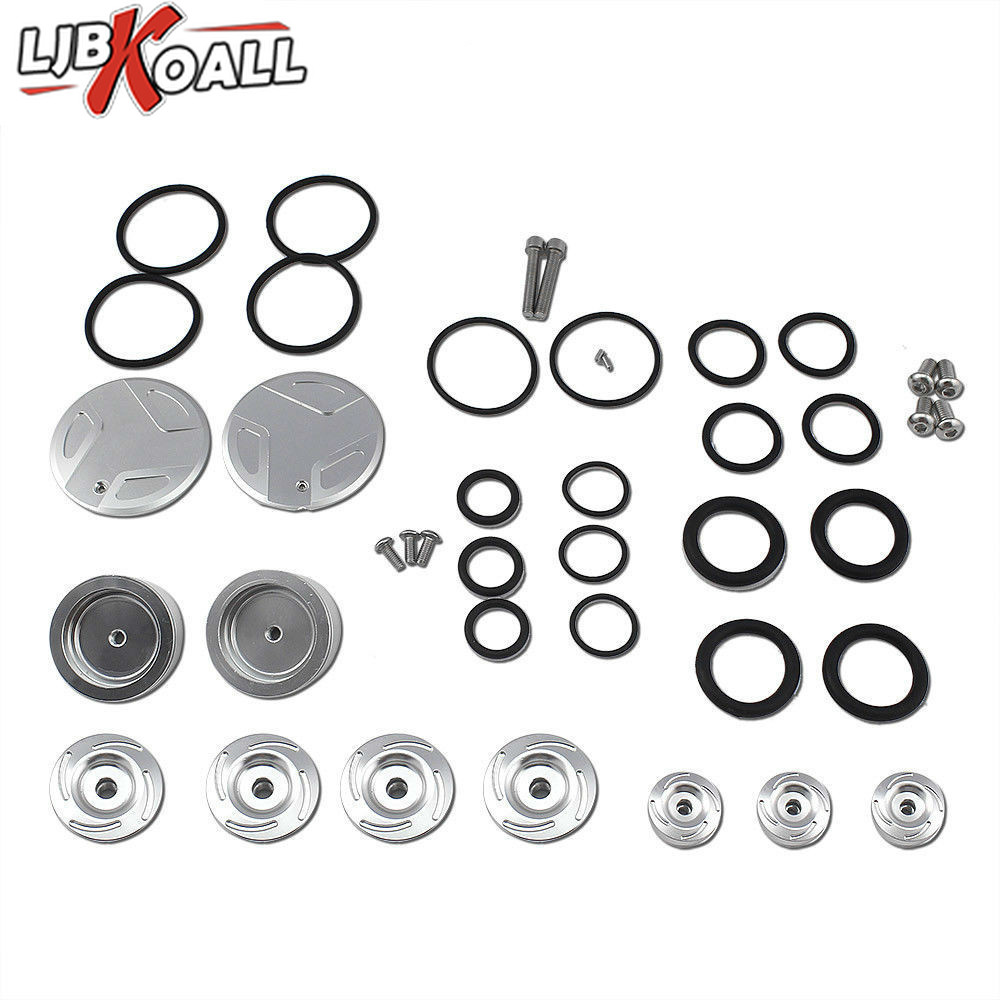 Motorcycle CNC Aluminum Silver Frame Hole Plug Cap Cover Set for 2013 2019 BMW R1200GS R1250GS