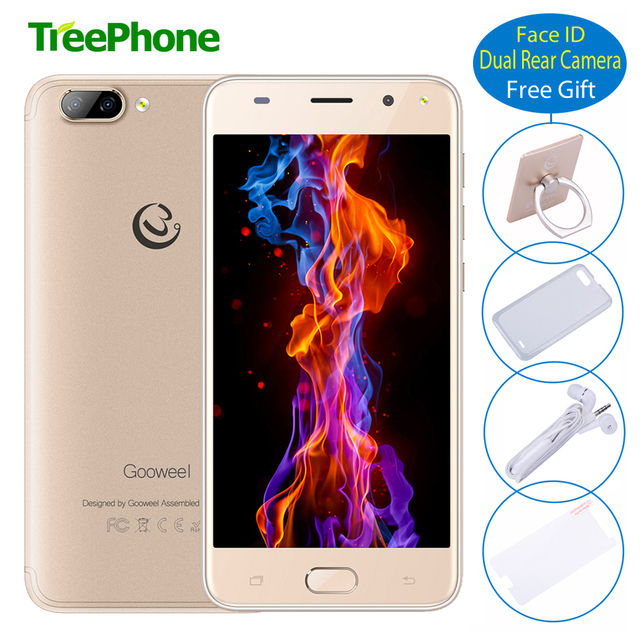 Face ID Gooweel S11 Smartphone MTK6580 Quad core 5.0 inch Screen 5.0MP+2.0MP Camera GPS WIFI Cell phone unlocked 3G mobile phone