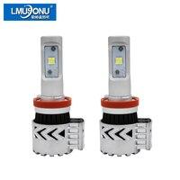 LMUSONU 50000 시간 수명 LED 자동차 헤드 라이트 6000lm 8 그램 슈퍼 밝은 9005 9006 9007 H4 H7 H11 Automotives에 헤드 램프