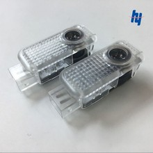 2X LED car door welcome light projection modeling logo for Audi A5 A6 C5 A4L A6L A4 B6 B8 A1 A8 TT Q7 Q5 Q3 A3 R8 RS S linha