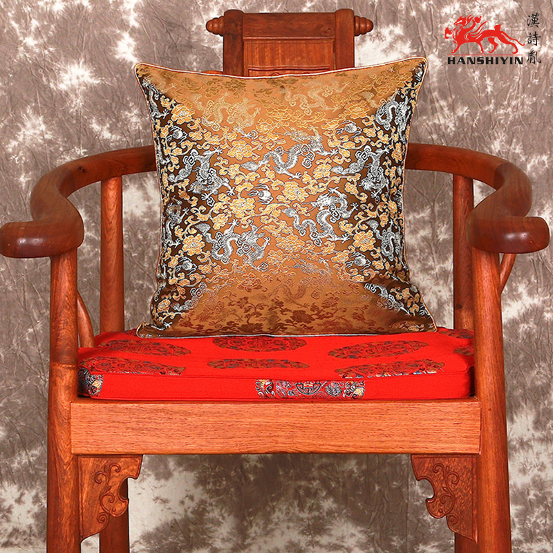 Double Ethnic Dragon Cushion Covers For Sofa Seats Chair Car Decorative  Chinese Style Silk Brocade Zippered Fashion Pillowcases In Cushion Cover  From Home ...