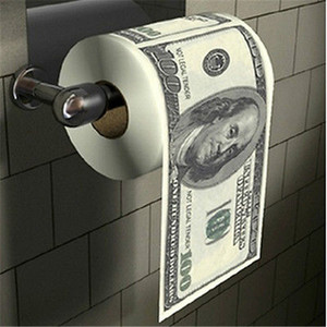 1 Funny Toilet Paper Living Room Decoration Hundred $100 Dollar Bill Toilet Paper Money Roll Papers(China)