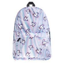 6PCS / LOT Backpack 3D animal Printing BackPack Travel Soft Back school Bag School For Girls Bagpack