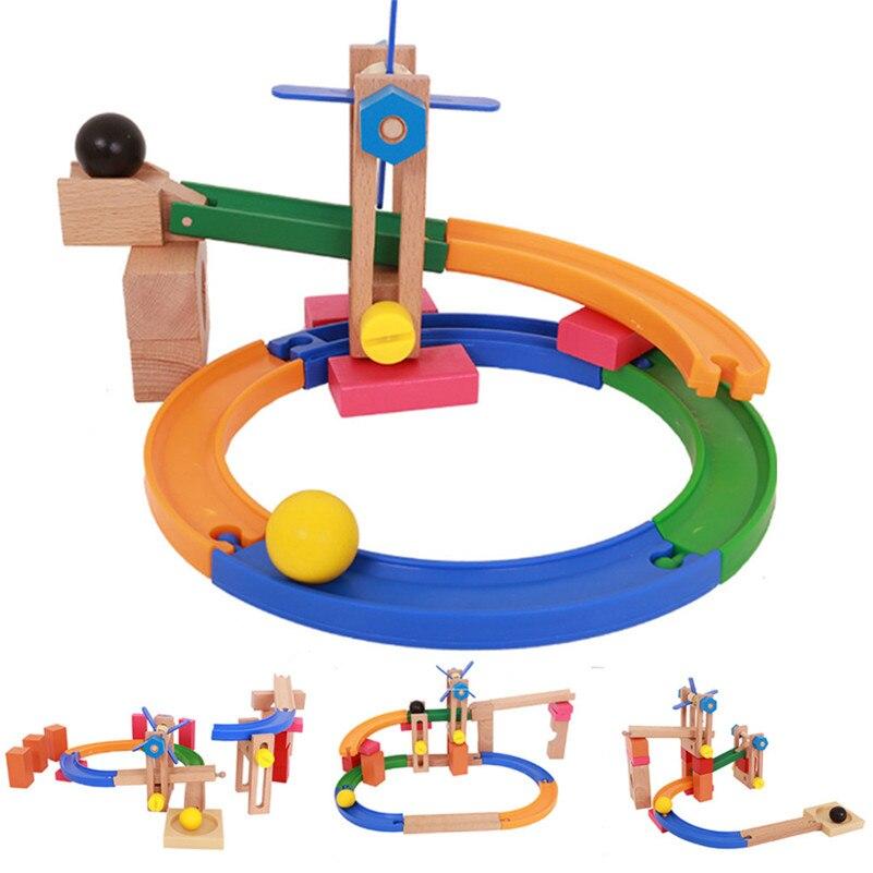 Sous-verres blocs Construction labyrinthe balles Pipeline piste blocs de Construction éducatifs pour enfants garçon fille B2