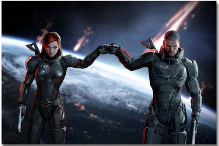 Mass Effect Hot Game Art Wall Decor Silk Print Poster image