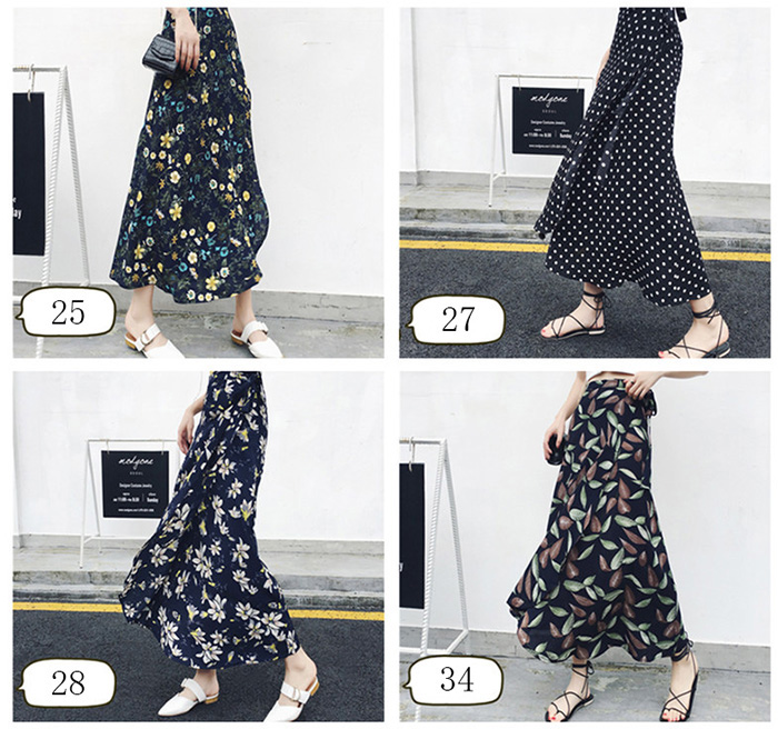 Boho Asymmetrical Chiffon Maxi Long Skirts 19