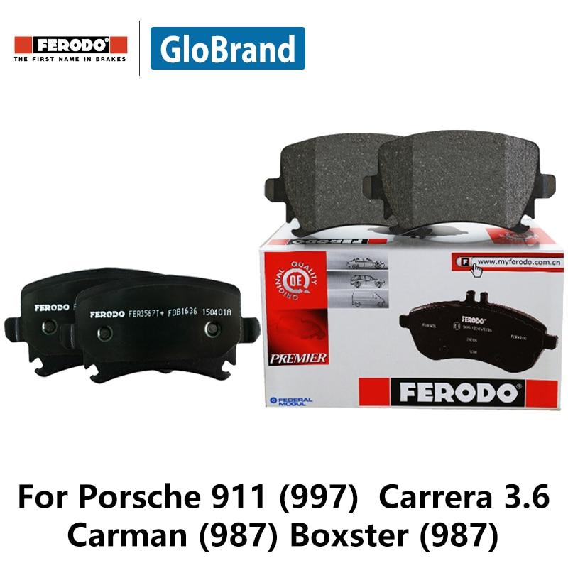 4pieces/set Ferodo Front Car Brake Pads For Porsche 911 (997) Carrera 3.6 Carman (987) Boxster (987) FDB1742 4pieces set ferodo front car brake pads for volvo xc60 t 2 0 t6 3 0 t6 3 0 fdb4238