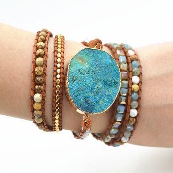 Unique Wrap Turquoise Jasper StoneBracelet4