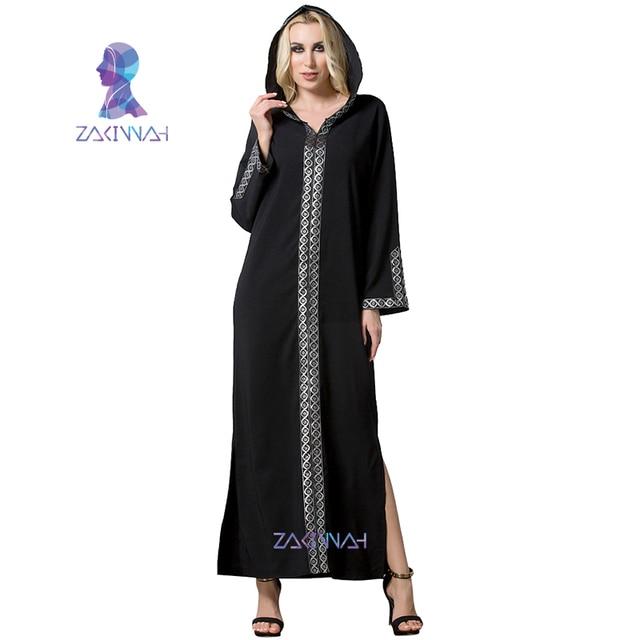 Women's Muslim Robes Arabian Turkish Muslim Sexy Split Dress Arab Womens  Clothing Autumn Muslim Abayas for