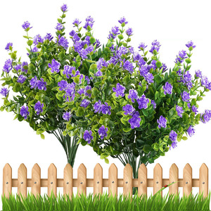 Artificial Flowers Outdoor Plant Shrubs Boxwood Plastic Leaves Fake Bushes Greenery Window Home Yard Garden Wedding Decor A10240(China)