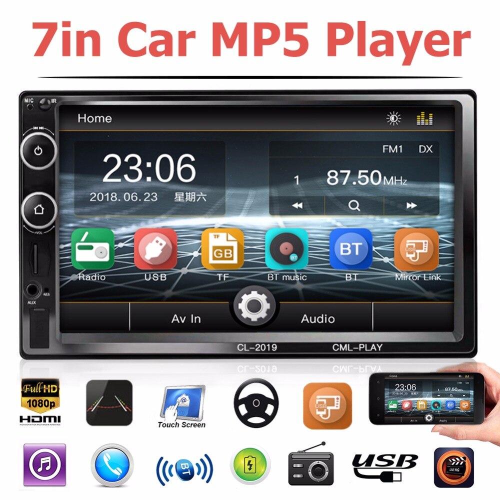 Auto Radio 2 Din Bluetooth Car Radio Car Stereo 7 Universal Car Player USB Autoradio Rear