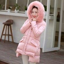 Winter Warm Women Coat Fashion Big Soft Fur Hooded Women s Down Cotton Coat Woman Padded