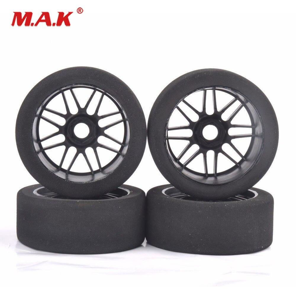 4Pcs 1/8 Racing Foam Tires&Nylon Wheel 17mm Hex For HSP HPI on Road Car Accessory4Pcs 1/8 Racing Foam Tires&Nylon Wheel 17mm Hex For HSP HPI on Road Car Accessory