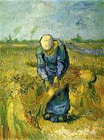 oil reproduction art by Vincent Van Gogh Peasant Woman Binding Sheaves after Millet Home decor Hand painted High quality