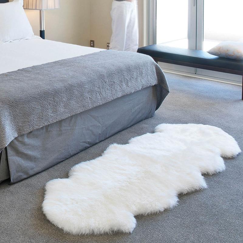 LIU pure laine tapis peau de mouton entière naturelle nouvelle laine tapis pour salon fourrure anti-dérapant lit avant couverture de luxe véritable laine canapé