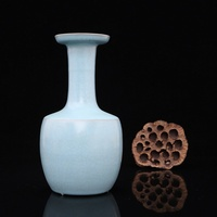 7 Antique SongDynasty porcelain vase,Ruyao sky blue glaze bottle ,Hand painted crafts,Collection&Adornment,Free shipping