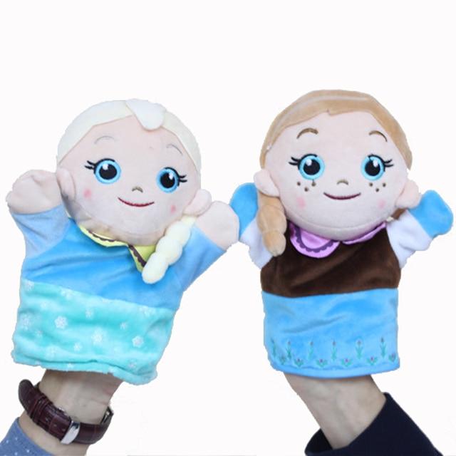 Hielo snow queen elsa guante marionetas de mano para los - Como hacer marionetas de mano ...
