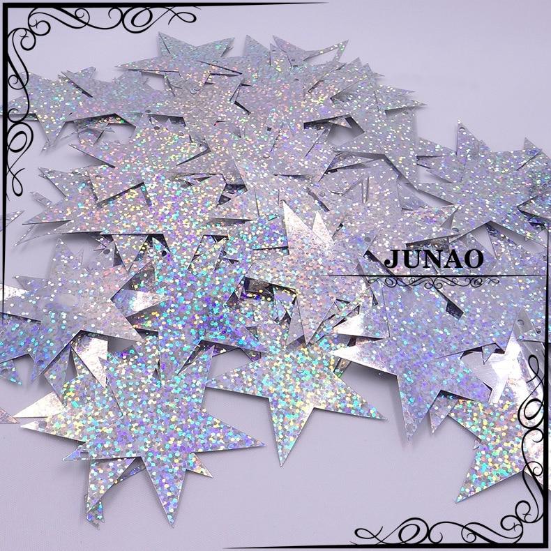 7 cm Lentejuelas Estrella Grande Plano PVC Sueltas de Lentejuelas Costura Artesanía de boda con 2 60 un