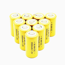 30PCS Ni-MH SC 1.2V Rechargeable battery 3500mah  SC Sub C Ni-MH cell with welding tabs for electric drill screwdriver