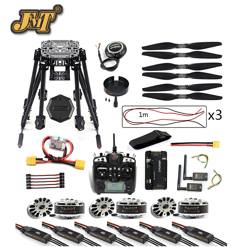 все цены на JMT DIY 6-Axis ZD850 Frame Kit APM 2.8 Flight Controller M8N GPS 3DR MHz Telemetry Flysky TH9X TX Motor ESC RC Hexacopter онлайн